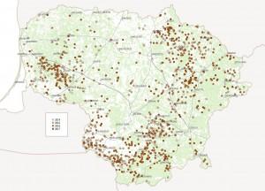 Žala 2014-2017 m. Pagal Ūkinių gyvūnų registro duomenis