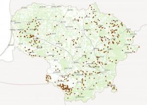 Žala 2019 m. pagal Ūkinių gyvūnų registro duomenis